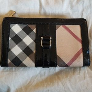 Used Burberry Plaid Wallet